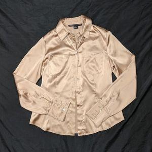 Yansi Fugel Silk Button Down Shirt